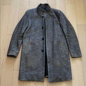 Theory Belvin Leary Herringbone Wool & Cotton Coat